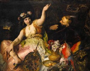 Ferdinand_Keller_-_Scheherazade_und_Sultan_Schariar_(1880)