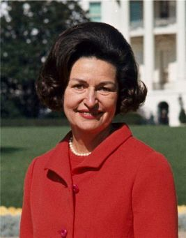 "Claudia Alta Taylor ""Lady Bird"" Johnson (1912 – 2007) American Entrepreneur, Philanthropist and Former First Lady"